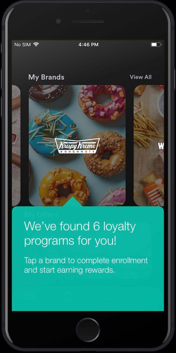 A user's dashboard in the SoLoyal app showing multiple linked and tracked loyalty programs.
